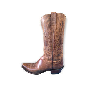 1883 by Lucchese brown women's western cowboy boots leather embossed sz 8